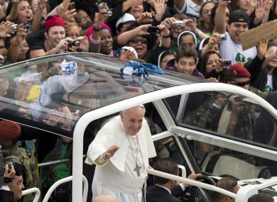The Pope in Brazil during July 2013