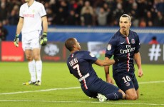 Zlatan pretty much scored in the middle of a celebration last night