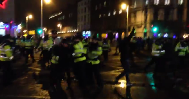 WATCH: Clashes between gardaí and water charge protesters on O'Connell Bridge