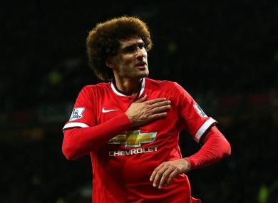Manchester United midfielder Marouane Fellaini