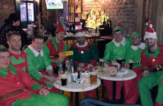 What do Leinster do for their Christmas party? Dress up as elves for a few scoops, of course