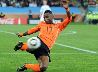 Elia has played in Holland, Germany and Italy.