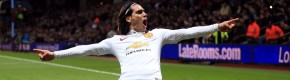 Falcao on target as United's winning run comes to an end