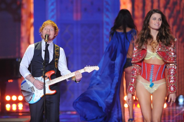 2014 Victoria's Secret Fashion Show Ed Sheeran Source Dominic Lipinski