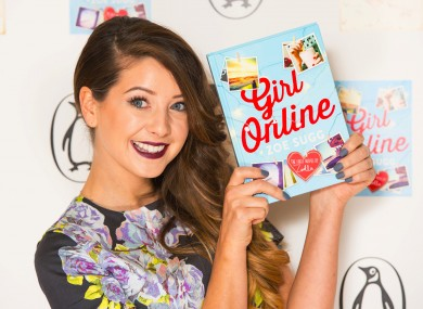 Zoe Sugg/ Zoella and her book, which was ghostwritten.