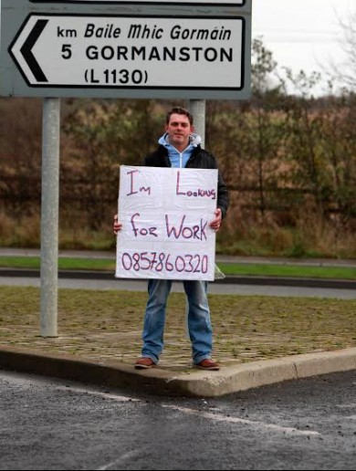 Remember Sean — the guy standing by the roadside looking for work? Well, good news…