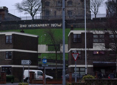 Anti-internment slogan on Derry's city walls. (File photo)