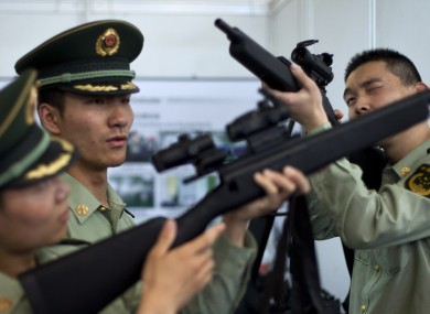 File photo of Chinese police officers in Beijing.