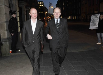 Stephen Donnelly and Shane Ross (file)