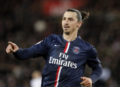 Ibrahimovic has scored 64 goals in 78 matches for PSG.
