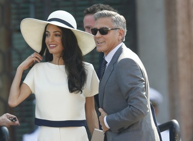 George and Amal Clooney at their civil marriage ceremony last year