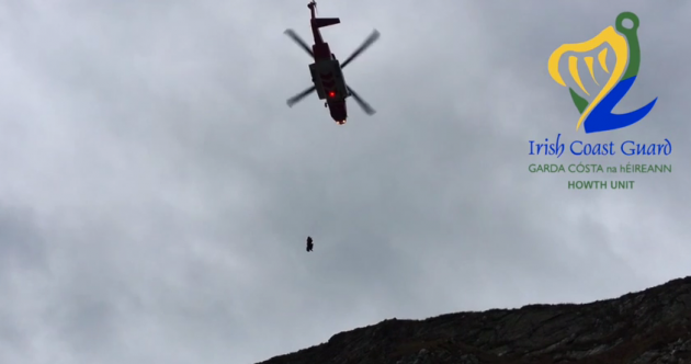 "Video: Coast Guard chopper airlifts ""confused"" walker from Howth Head"