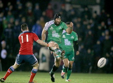 Muldoon dinks a delicate little grubber in behind the Munster line.