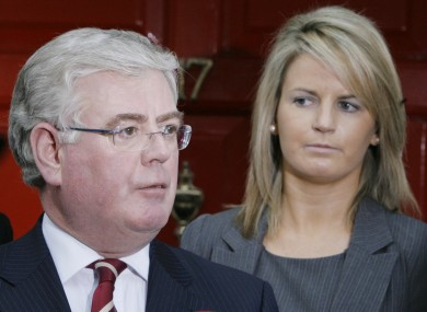 Lorraine Higgins with former Labour party leader Eamon Gilmore.