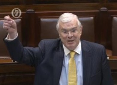 Peter Mathews in the Dáil today