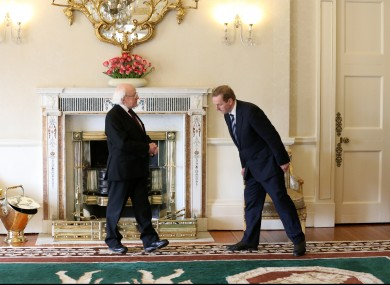 President Higgins and Taoiseach Enda Kenny