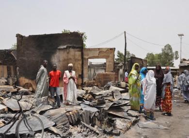 File photo of the aftermath of a Boko Haram attack in Gambaru, Nigeria.