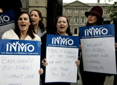 Members of the INMO protesting in 2011
