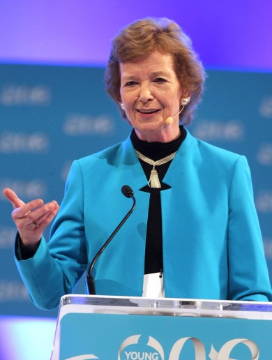 Mary Robinson is back in town … to discuss Ireland's recovery