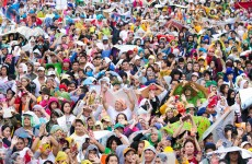 A record six million people turned out to see the Pope today
