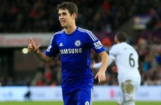 Oscar and Diego Costa netted twice as Chelsea had an easy afternoon in Swansea