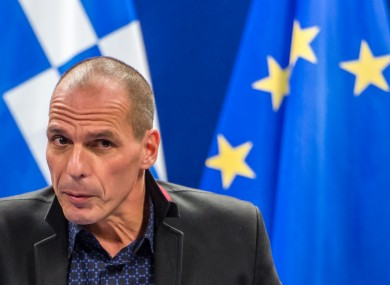 Greece's Finance Minister Yanis Varoufakis after the unsuccessful meeting.