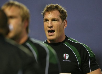 Bob Casey played for London Irish for ten years and is now their director of operations.