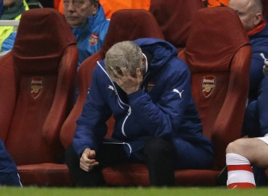 Bad night at the office for Arsenal and their manager last night.