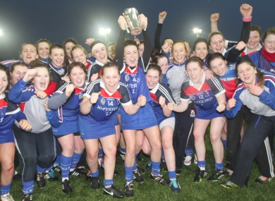 Waterford IT celebrate their Ashbourne Cup win.