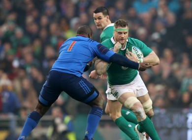 Heaslip was inured in the clash with France in round two.