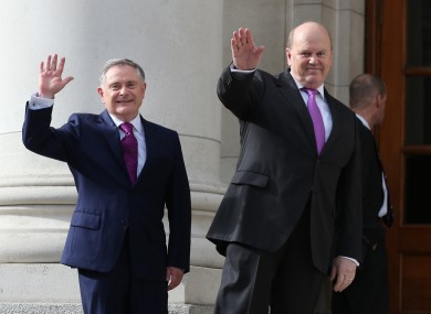 Finance Minister Michael Noonan and Public Expenditure Minister Brendan Howlin