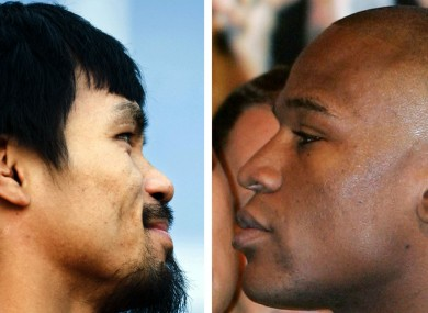Showdown: Manny Pacquiao and Floyd Mayweather.