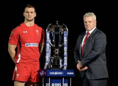 Gatland and skipper Sam Warburton.