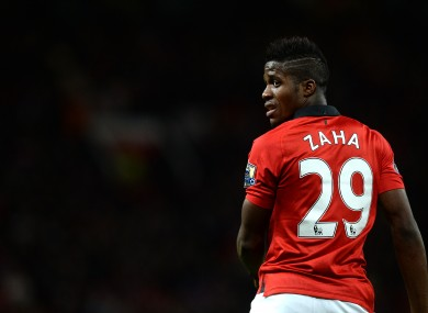 Wilfried Zaha found life at Old Trafford difficult.
