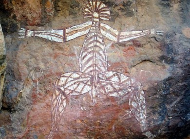 Authentic Australian aboriginal rock art from Kakadu National Park