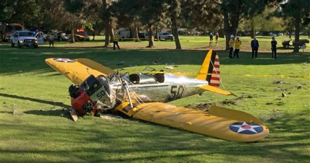 Harrison Ford 'battered but ok' after plane he was flying crash-landed