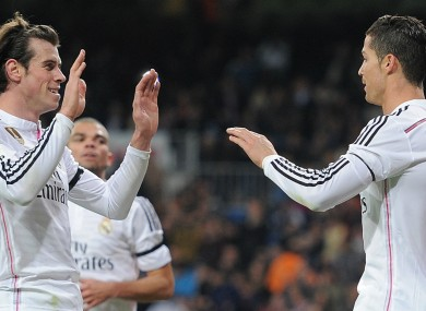 Gareth Bale and Cristiano Ronaldo were both influential in Real's win last night.