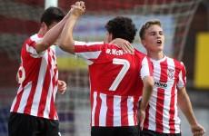 Elding nets brace as Derry too good for 10-man Drogheda