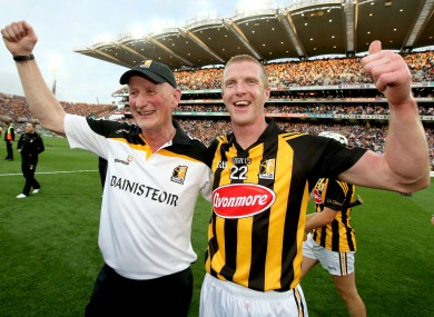 Brian Cody and Henry Shefflin celebrating after last year's All-Ireland final win.