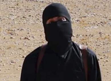 'Jihadi John' in a frame of a video released by the group.