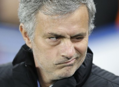 Chelsea manager Jose Mourinho grimaces during last night's match.