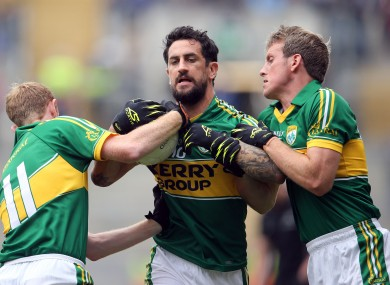 Paul Galvin with Kerry teammates Colm Cooper and Donnchadh Walsh.