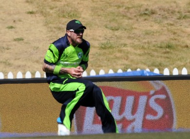 John Mooney making a less controversial catch against the West Indies.