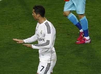 Cristiano Ronaldo celebrates Clasico strike
