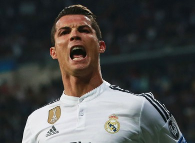Real Madrid forward Cristiano Ronaldo scored a brace in his side's match with Schalke last night.