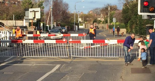 Rail delays after jeep crashes into level crossing barrier at Sandymount