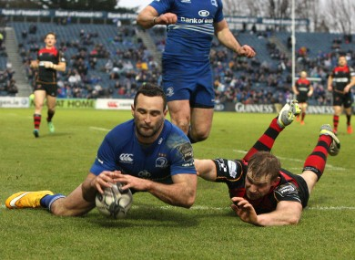 Kearney scored a try in Leinster's home defeat to the Dragons back in February.