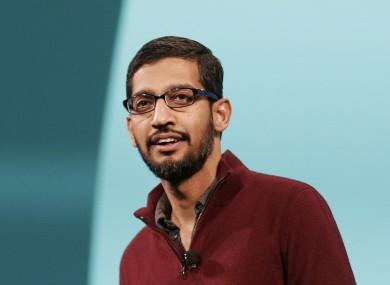 Sundar Pichai at Google I/O back in 2014.