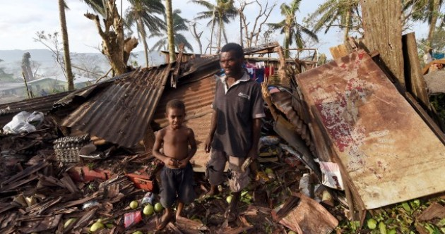 """Thousands homeless as """"monster"""" cyclone hits South Pacific islands"""