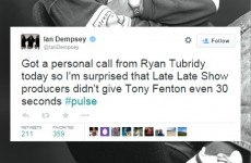 """RTÉ has """"no comment"""" after the Late Late failed to mention Tony Fenton"""
